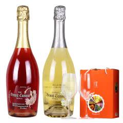 西班牙进口葡萄酒 6.5度博诺拉姆半干型起泡酒 葡萄酒 红白两瓶750ml(2瓶)