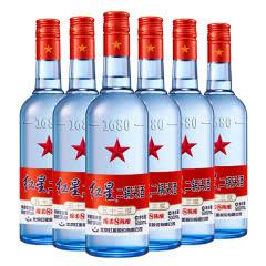 红星二锅头 正品保证 53度蓝瓶绵柔8 500ml*6瓶装