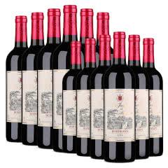 【买1箱送1箱】法国原瓶进口红酒莫奈庄园波尔多AOP干红葡萄酒750ml *6