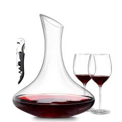 红酒醒酒器套装(1醒酒器+2支酒杯+开瓶器)