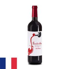 12°法国苏克雷红葡萄酒750ml
