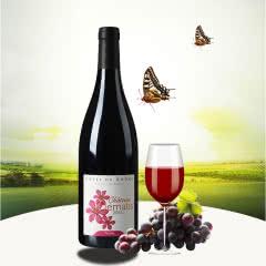 法国三色花城堡红葡萄酒750ml