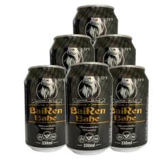 BAIRENBAHE黑啤酒 德国工艺啤酒拜仁巴赫.艾尔330ml*6听(整箱装)
