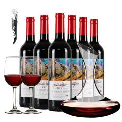 澳大利亚原瓶进口红酒乔睿庄园W17赤霞珠干红750ml*6