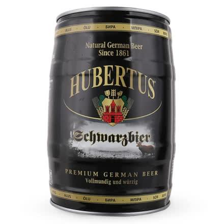 狩猎神(HUBERTUS)德国原装进口黑啤酒桶装5L