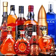 【10款洋酒组合】伯爵爵士威士忌骑士白兰地XO伏特加248ml-700ml