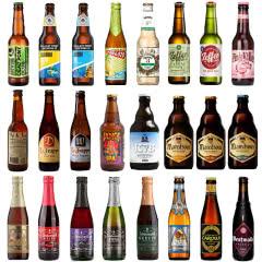 进口精酿啤酒组合 荷兰比利时美国新西兰中国林德曼罗格等24瓶