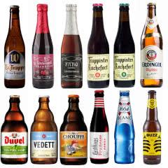 进口啤酒 比利时福佳罗斯福粉象林德曼督威1664啤酒12瓶组合