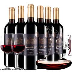 法国进口红酒黎明骑士城堡干红葡萄酒红酒整箱装750ml*6