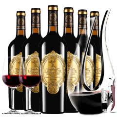 法国进口红酒拉斐天使庄园干红葡萄酒红酒整箱 醒酒器装750ml*6
