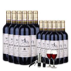 法国进口白马麦克干红葡萄酒750ml*12