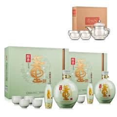 54°董酒醇香礼盒1000ml*2+茶具五件套(酒仙会员专享)