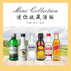 洋酒小酒版6瓶套装50ml*6支收藏限量版