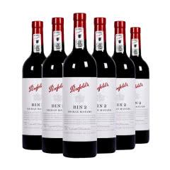 奔富BIN2西拉马塔罗红葡萄酒750ml 6支装