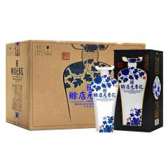 河南特产白酒 赊店老酒 青花瓷元青花46度浓香型白酒500ml 6瓶整箱装