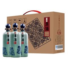 潭 年份潭酒2011 固态发酵粮食收藏酒送礼礼盒装53度酱香型白酒 500ml*3瓶