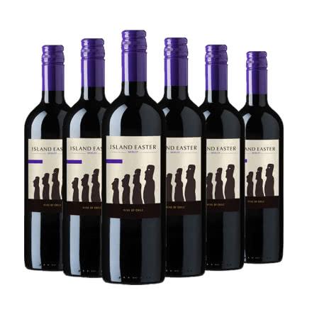 智利干露复活节岛梅洛半干型红葡萄酒 750ml整箱(6瓶装)