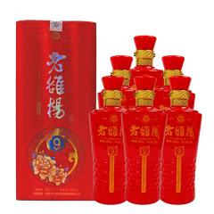 河南白酒 46度 杜康村老雒楊(9)浓香型白酒500ml 6瓶整箱装