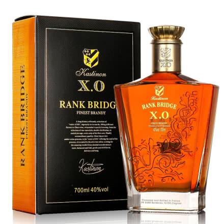 40°法国洋酒(原瓶进口)弗兰克桥 白兰地 700ml单瓶装烈酒
