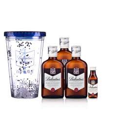 【99元封顶】40°英国百龄坛特醇苏格兰威士忌200ml*3 +小酒50ml+嗨爆杯