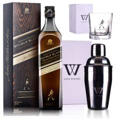 40°英国尊尼获加醇黑调配苏格兰威士忌 700ml+尊尼获加五角杯+摇酒壶
