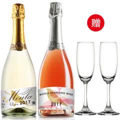 【送2香槟杯】慕拉起泡气泡葡萄酒2支装微醺果酒vs RIO鸡尾酒750ml*2支