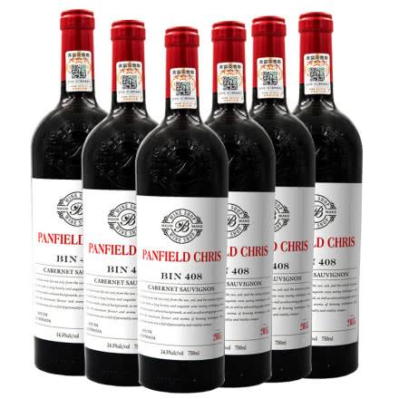 奔富克鲁斯BIN408赤霞珠干红葡萄酒整箱装(750ml*6瓶)