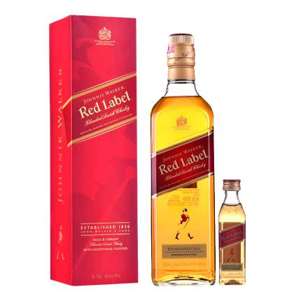 40°英国尊尼获加红方威士忌700ml+40°英国尊尼获加红方威士忌50ml