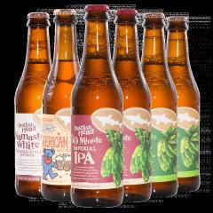 美国进口精酿6瓶组合 角头鲨60分钟90分钟IPA啤酒 美国女郎美式/合十礼白艾尔啤酒