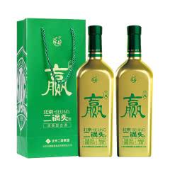 【酒厂直营】华都 北京二锅头(国安一起赢)43度500ml*2清香型白酒足球队定制礼盒酒