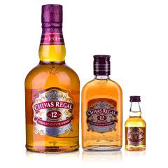 40°英国芝华士12年苏格兰威士忌500ml+200ml+50ml