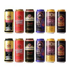 黑啤啤酒组合装德国原装进口凯尔特人凯撒顿姆布鲁杰克500ml*12听