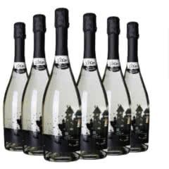 9.5°乐客黑城堡起泡甜白麝香葡萄酒意大利原瓶进口气泡酒 莫斯卡托 750ml(6瓶装)