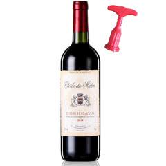 法国红酒(原瓶原装)进口红酒AOC级波尔多法定产区干红葡萄酒750ml单支装