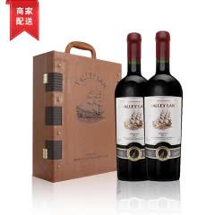柏尔兰堡 法国原瓶进口红酒 波尔多AOC干红 高档葡萄酒礼盒2支装