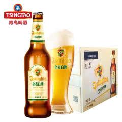 青岛啤酒(TsingTao)全麦白啤11度330ml*12瓶 整箱装