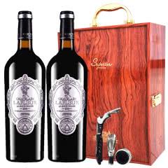 法国进口红酒拉斐天使酒园干红葡萄酒红酒双支礼盒装750ml*2