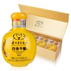 【中秋礼盒】53°贵州茅台集团白金酒公司白金干酱GJ12酒100ml*5 单条礼盒装