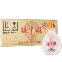 45°五粮液股份公司 福中福100ml*24瓶 浓香型小酒版 小瓶装白酒 2012年产老酒