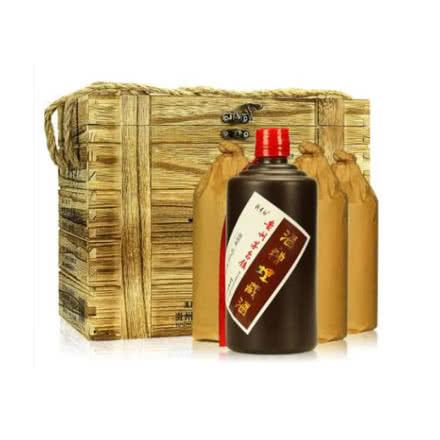 52°贵州茅台镇赖贵初酒糟埋藏酒浓香型白酒500ml*4(木盒装)