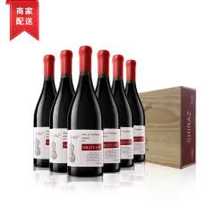 澜谷禾富臻选西拉干红葡萄酒木箱装