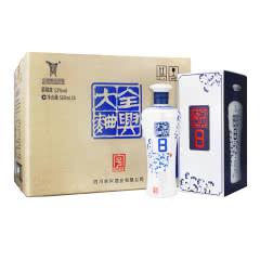 52°全兴大曲青花8浓香型白酒整箱装500ml(6瓶整箱装)2014-2015年 随机发