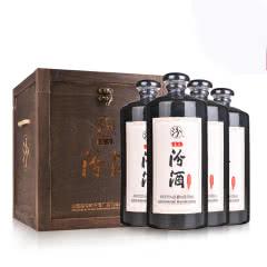 55度山西杏花村汾酒 盘古汾酒 清香型白酒500ml*4瓶 (高档木箱礼盒)