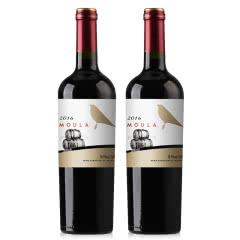 慕拉(MOULA)红酒橡木桶金鸟干红葡萄酒赤霞珠梅洛干红750ml*2