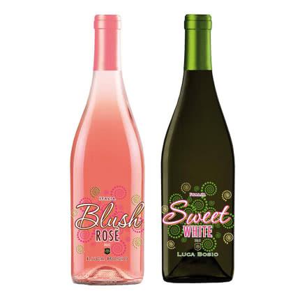 意大利进口玫瑰起泡酒博奥斯甜白+桃红起泡葡萄酒气泡酒女士甜酒750ml*2