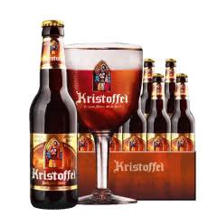 比利时原瓶进口修道院精酿克里斯多福黑啤酒330ml(24瓶装)