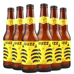 BUZZ蜂狂精酿桂花小麦艾尔啤酒330ml(6瓶装)