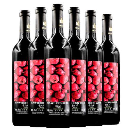 吉林特产雪兰山老山楂酒6度750ml 6支整箱