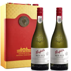 奔富 Penfolds 澳大利亚原瓶进口红酒  Bin311霞多丽干白葡萄酒750ml*2