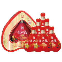 泸州福百年同心520mL*6瓶整箱装白酒52度婚宴喜宴红瓶带防伪送礼品袋
